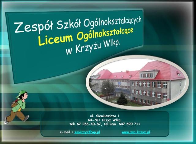 Liceum Ogólnokształcące Zespół Szkół Ogólnokształcących w Krzyżu Wielkopolskim zso.krzyz.pl