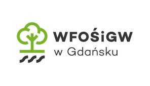 Logo oraz napis WFOŚiGW w Gdańsku