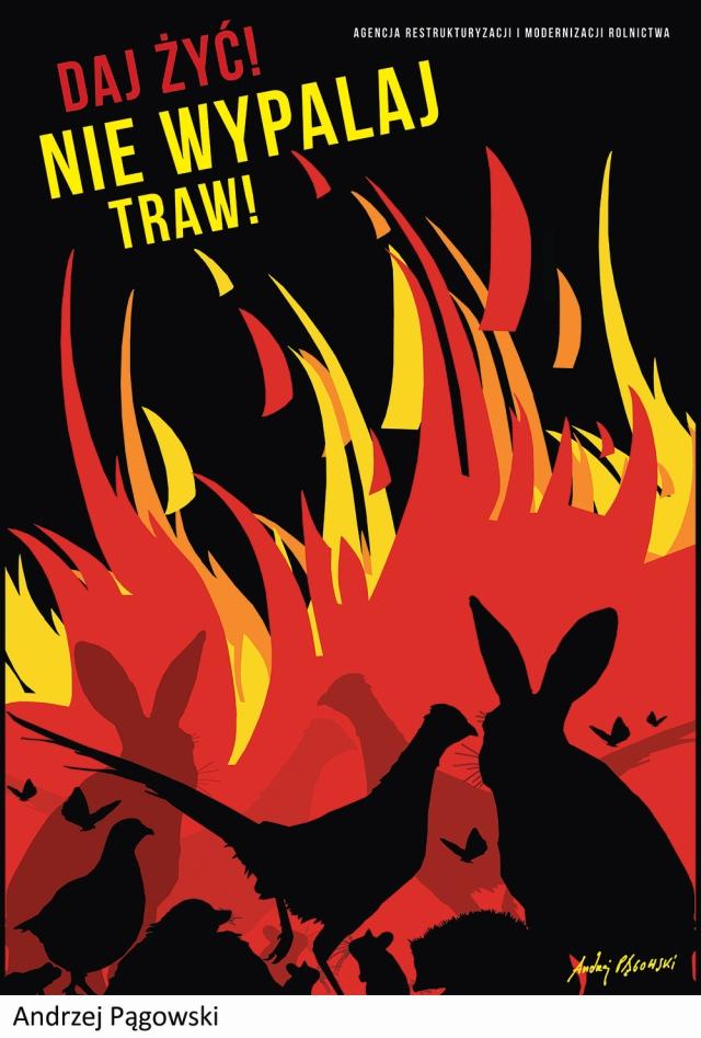 Wypalanie traw - plakat