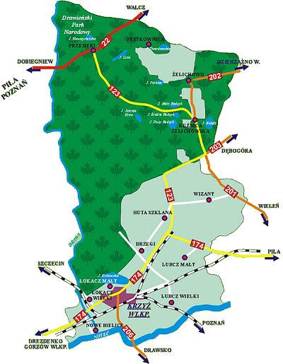 Mapa Krzyża Wielkopolskiego